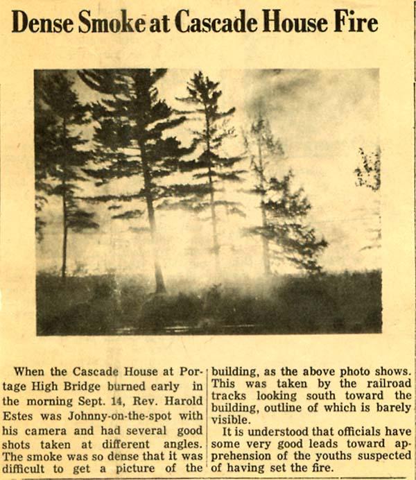 newspaper article fire